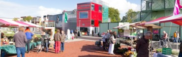 "Groningen CiBoGa, placemaking door pop-up en een ""boxpark""."